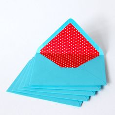 Lined envelopes by NinaPaperStories on Etsy, €7.50