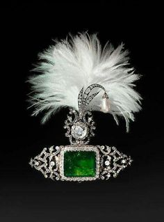 Turban ornament and brooch, Cartier, 1900.
