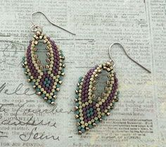Linda's Crafty Inspirations: Russian Leaf Earrings - Mulberry & Aloe
