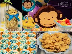 mod monkey first birthday party