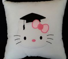Hello Kitty Grad Pillow by DarmiSpecialties on Etsy