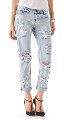 One Tea Spoon Awesome Distressed Jeans