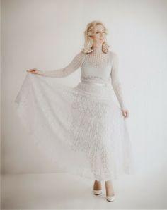Ravelry: Queen Swan Dress pattern by Natalya Lasska Gown Skirt, Dress Skirt, Lace Dress, Lace Knitting, Knit Lace, Knitting Ideas, Knitting Patterns, Crochet Patterns, 1960 Dress