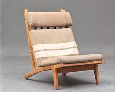 Køb stole - danske klassikere, antikke, moderne - H. J. Wegner. Lænestol, model GE-375 - DK, Næstved, Gl. Holstedvej