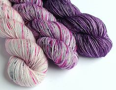 Purple sparkle speckles 4ply