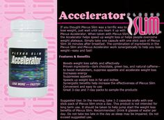 Accelerator+ helps speed up weight loss and overcome weight plateaus. The combination of ingredients in Slim and Accelerator+ work synergistically to help you lose weight fast!