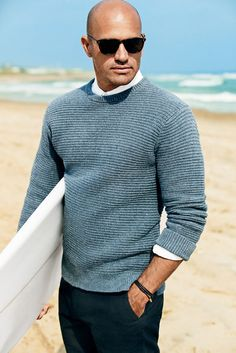 A sea blue sweater to keep you warm post morning surf. #stylefromachitownerseye