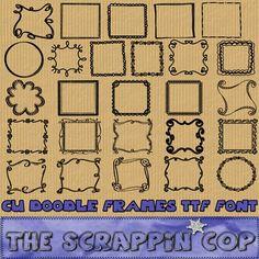 Doodle Frame Dingbat Font