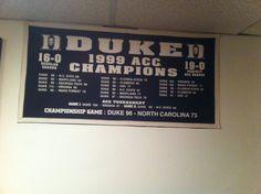 Duke 1999 acc champion wins