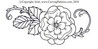 Wood Flower Curves pattern pack - download