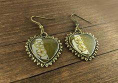 Steampunk Heart Earrings Watch Earrings Watch by NestreJewellery
