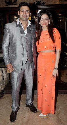 Sangram Singh with Payal Rohatgi at Sangram's birthday bash. #Style #Bollywood #Fashion #Beauty