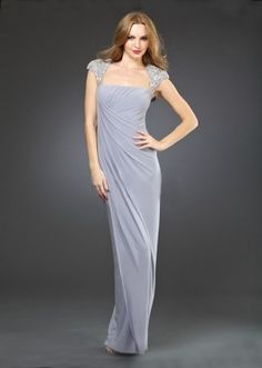 elegant evening dress with beading decorated