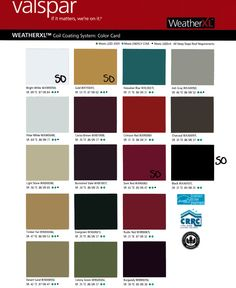 Colors - Hilco Metal Buildings & Roofing Supply