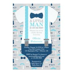 Little Man Baby Shower Invitations, Navy Blue, Gray Invitation. Cute baby shower invites perfect for a boy baby shower. Shower Party, Baby Shower Parties, Baby Shower Themes, Baby Boy Shower, Shower Ideas, Baby Showers, Man Shower, Shower Cake, Bridal Showers