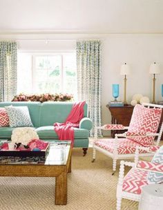 Love this color combo and those chairs are to die for!