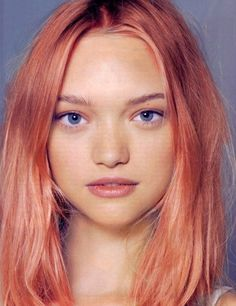 peach hair. I want!!