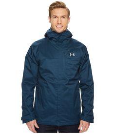 Under Armour Ua Porter Jacket In True Ink/midnight Navy/steel 3 In 1 Jacket, Rain Jacket, Body Heat, Under Armour Men, Ua, Windbreaker, Raincoat, Mens Fashion, Steel