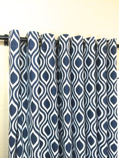 Premier Navy Nicole Curtain Panels With by thebluebirdshop on Etsy