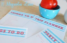 Free Summer Planning Printables from 11 Magnolia Lane {Things to Do w/ Ideas, Party Planner, Trip Planner, Shopping List}