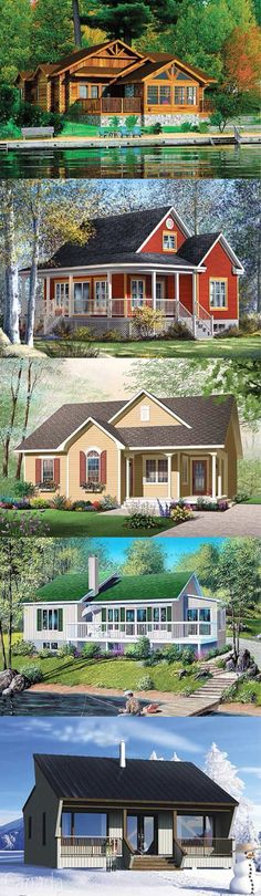 Truly Red Cottage Homes On Pinterest Red Houses