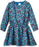 Yumi Girl's Floral Beetle Print Floral Dress