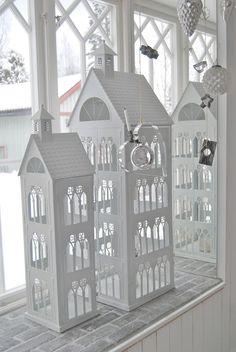 lantern houses tealight. little art houses