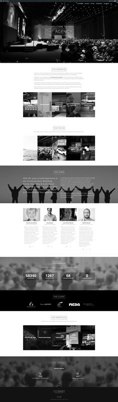 New web design for an event management agency located in Spain.