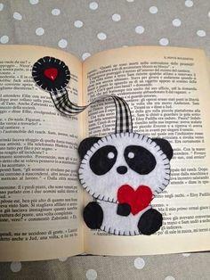 Creatività - Lavoretti con il Pannolenci per Bambini ~ Il Magico Mondo dei Sogni Felt Diy, Felt Crafts, Fabric Crafts, Sewing Crafts, Diy And Crafts, Diy Bookmarks, Crochet Bookmarks, Book Projects, Craft Projects