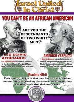 "How can you be ""AFRICAN-AMERICAN"" when that comes from two white men? Are you…"