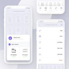 Send to print petrknoll instagram Ios App Design, Web Design, Slide Design, Mobile App Design, User Interface Design, Mobile Ui, Dashboard App, App Promotion, Card Ui