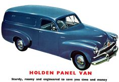 1953 Holden FJ Panel Van. (Original Poster).  v@e.