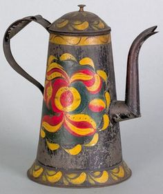 Pennsylvania toleware coffee pot, 19th century