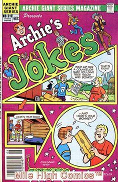 ARCHIE GIANT SERIES (1954 Series) #519 Good Comics Book Jughead Comics, Best Comic Books, Archie Comics, Comic Book Covers, Presents, Jokes, Gifts, Husky Jokes, Memes