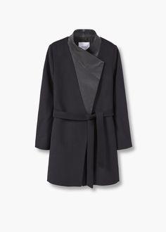Wool leather coat | MANGO