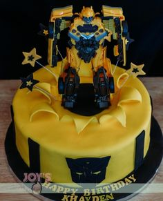 This cake is actually a cake for a fan, Khayden. He got both a cake and a Bumble Bee toy for his birthday.