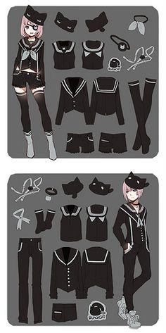 Anime guy (and girl) Anime Uniform, Anime Outfits, Cute Outfits, Manga Clothes, Drawing Clothes, Character Concept, Character Art, Poses References, Character Design References