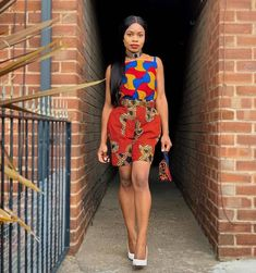 Simple Strap Top With Sleeve Ankara Gown Styles, Latest Ankara Styles, Ankara Gowns, Jumpsuit Images, Ankara Stil, Conservative Fashion, Skirt Images, Ankara Designs, Short Gowns