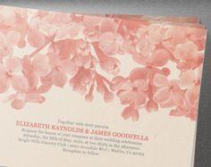 Coral Floral Wedding Invitation