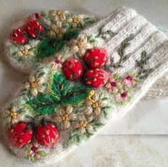 вышивка house of beauty maysville ky - House Beautiful Wool Embroidery, Hand Embroidery Designs, Embroidery Stitches, Knit Crochet, Crochet Hats, Knit Mittens, Knitting Accessories, Handicraft, Baby Knitting