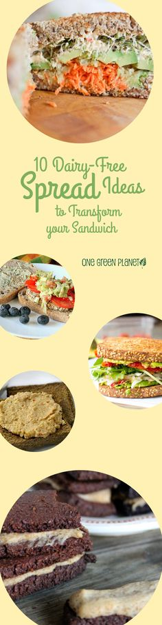 These dairy free spreads are surprising - and yet they make perfect sense! Try one of these creative sandwich ideas. #dairyfree #progressivemedicalcenter