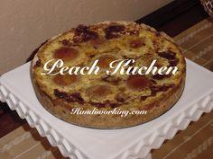 Handiworking: Peach Kuchen Recipe #baking #recipe #peachkuchen