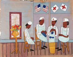 Knitting Party by William H. Johnson / American Art