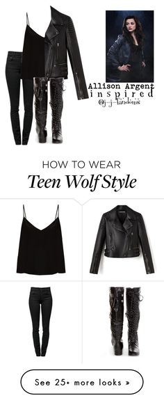 """""""allison argent """"teen wolf"""" (inspired outfit)"""" by j-j-fandoms on Polyvore featuring Proenza Schouler and Raey"""