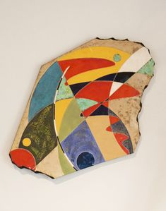 Michael Gustavson colorful wall hanging at Sculpturesite Gallery Aboriginal Painting, New Leaf, Wall Sculptures, Wall Colors, Contemporary Art, Art Gallery, Wall Art, Glaze, Inspire
