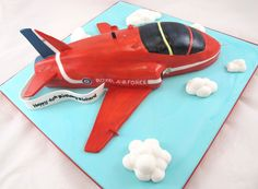 Red Arrow Plane Carved Birthday Cake - Carved red arrow plane Birthday Cake - follow this link for an all round video clip http://youtu.be/oWuWXqtnoT8