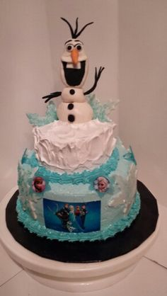 here's a smaller version of my frozen cake