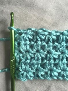 How to Crochet Star Stitch: Crochet Star Stitch Free Pattern   Would you make a crochet afghan out of this stitch?