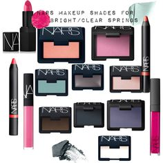 Bright spring makeup by ithinklikeme on Polyvore featuring beauty, NARS Cosmetics, brightspring and glutenfreemakeup