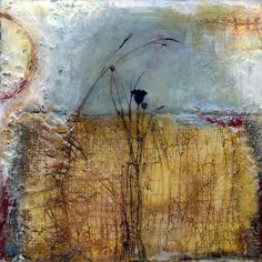 Forever Constant is an encaustic mixed media painting. The artist is Bridgette Guerzon Mills.